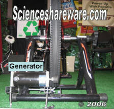dc PM  permanent magnet motor pedal power bicycle generator